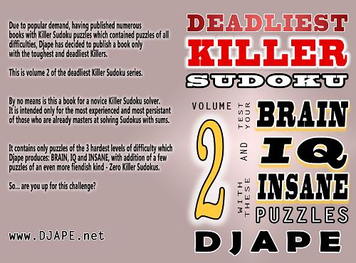 Deadliest Killer Sudoku book, volume 2