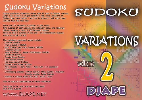 Sudoku Variations book, volume 2
