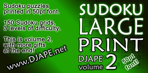 Sudoku Larger Print book